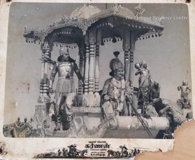 Lobby Card of Karnan (1964) .Image courtesy The Cinema Resource Centre.